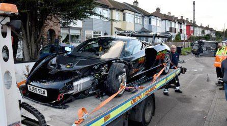 Ouch: Big McLaren Senna crash, 1 of only 500 made